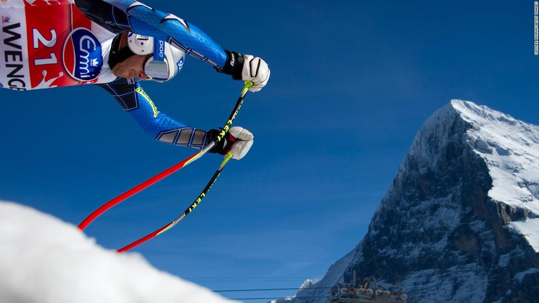The longest running race on the calendar takes place against the backdrop of the Eiger and its infamous north face (in shadow), scene of many feats of mountaineering heroism and tragedy.