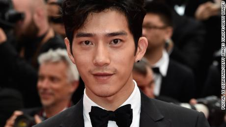 Jing Boran is seen sporting an earring at the 69th annual Cannes Film Festival at the Palais des Festivals on May 14, 2016 in Cannes, France.