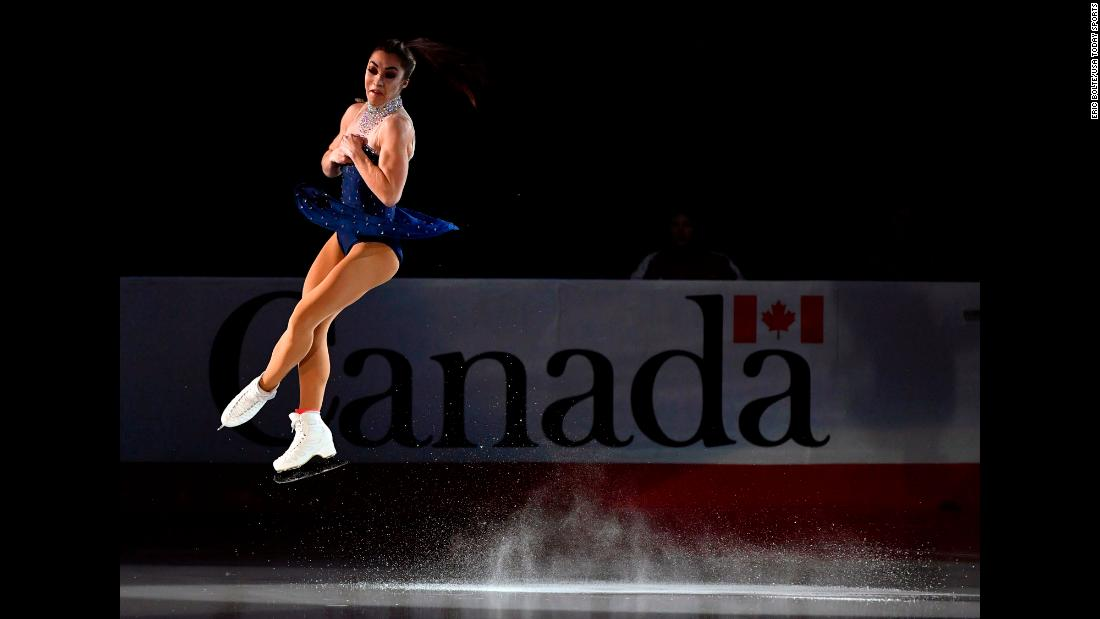 Gabrielle Daleman performs in the gala exhibition during the Canadian Tire National Skating Championships at Harbour Station on Sunday, January 20.