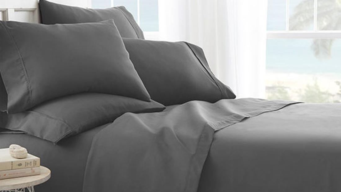 Get a hypoallergenic microfiber 6-piece sheet set at a deep discount
