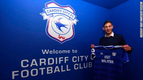Cardiff City footballer Sala onboard plane that disappeared