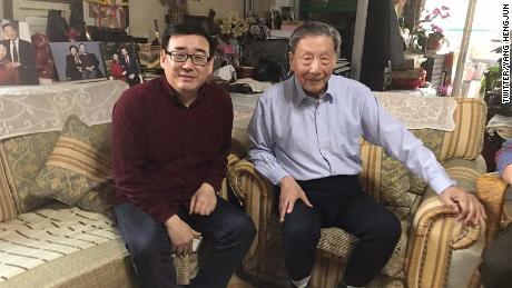 Chinese-Australian writer Yang Hengjun (left) and prominent liberal intellectual Mao Yushi.