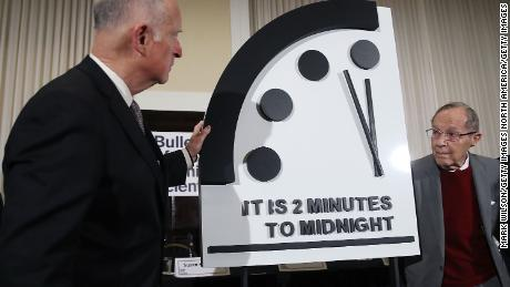 Doomsday Clock moves within two minutes to midnight, closest since 1953