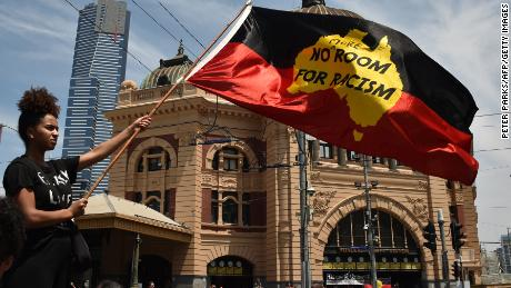 Thousands march in protest of national day in Australia