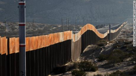 A view of the border wall between Mexico and the United States, in Ciudad Juarez, Chihuahua state, Mexico on January 19, 2018.