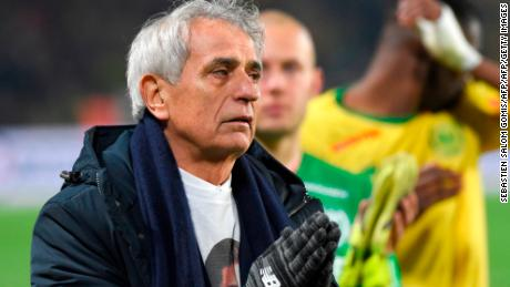 Nantes' Bosnian head coach Vahid Halihodzic couldn't suppress his tears as the club honored their former striker.