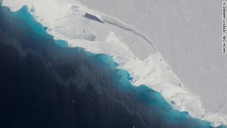 Huge cavity in bottom of Antarctic glacier signals rapid decay