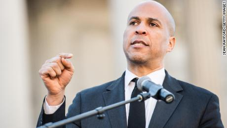 Sen. Cory Booker (D-NJ) addresses the crowd during the annual Martin Luther King Jr. Day at the Dome event on January 21, 2019 in Columbia, South Carolina. (Sean Rayford/Getty Images)