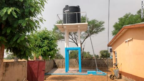 The new water source at Mirigu health center.