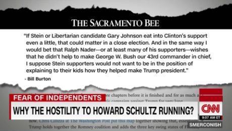Why the hostility to Schultz's candidacy?