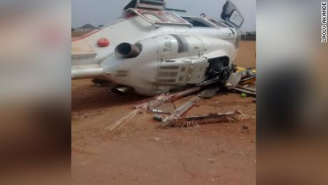 Osinbajo reacts after helicopter crash