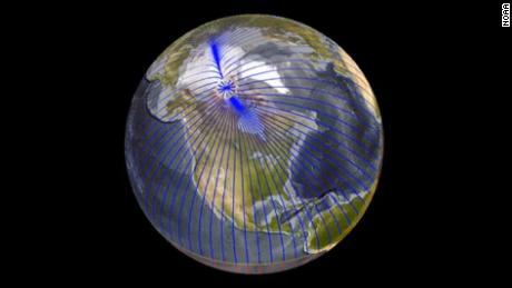 Earth's north magnetic pole is on the move