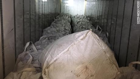 The 31 bags of hemp inside Palamarchuck's tractor-trailer.
