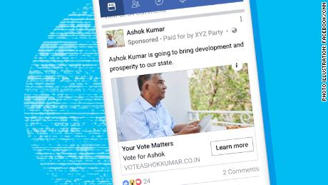 Facebook starts labeling political ads in India as election looms