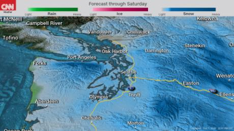 Western Washington wakes up to more snow Saturday