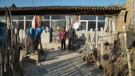 Qin Taixiao (right) and his wife Sun Sherong have spent almost the entire year alone in their secluded village.