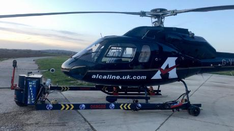 Alcaline has bought a helicopter to airlift urgent goods if trucks get stuck at the border.