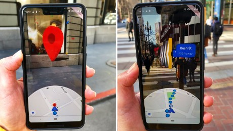 Google tests new AR features for the Maps application.