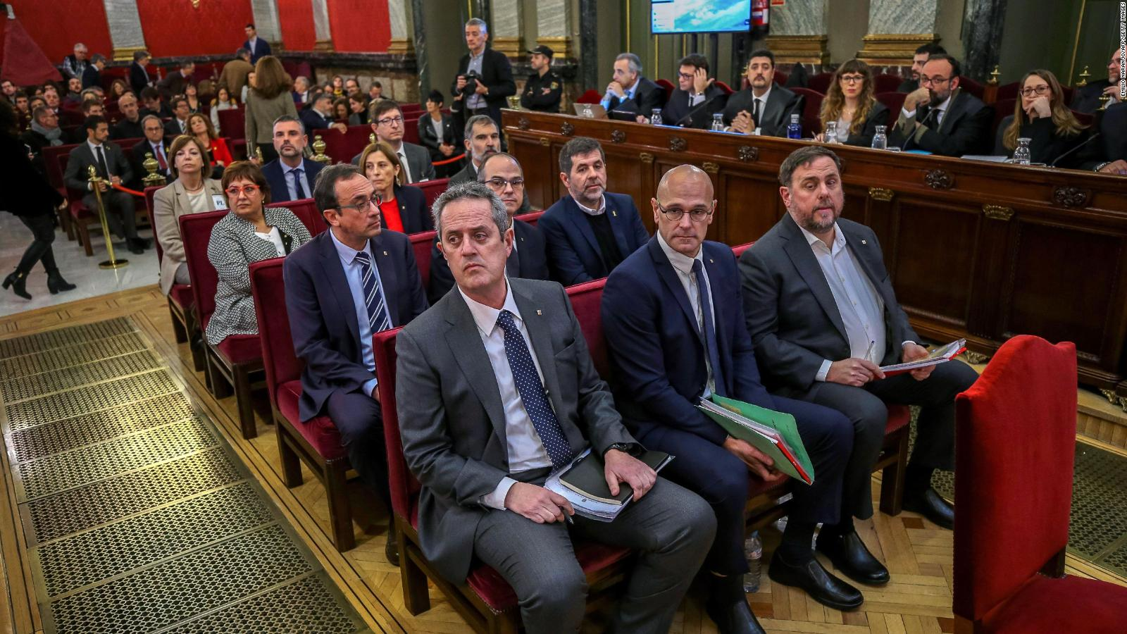 Twelve former Catalan leaders go on trial at Spain's Supreme Court for their role in a failed 2017 bid to break away from Spain.