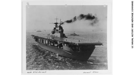 The USS Hornet (CV-8) was commissioned in 1941 and saw about a year of valiant service before sinking.