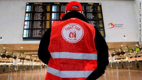 General strike shuts Belgian airspace, grounds flights