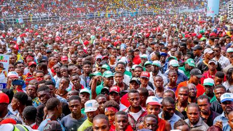 Buhari's supporters at the campaign rally in Rivers State, Nigeria, February 12, 2019.
