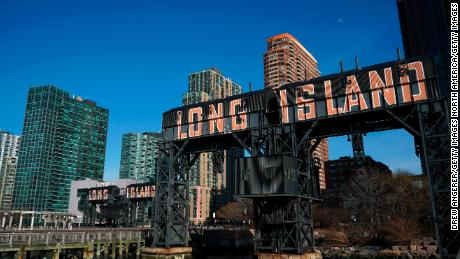 NEW YORK, NY - FEBRUARY 14: A view of Gantry Plaza State Park along the waterfront in Long Island City, February 14, 2019 in the Queens borough of New York City. Amazon said on Thursday that they are cancelling plans to build a corporate headquarters in Long Island City, Queens after coming under harsh opposition from some local lawmakers and residents. (Photo by Drew Angerer/Getty Images)