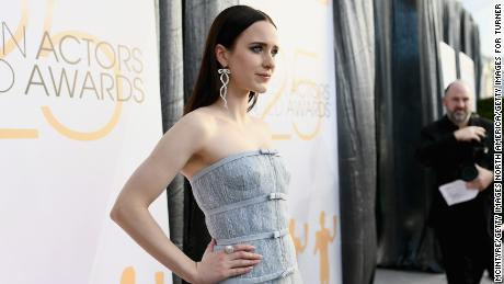 Rachel Brosnahan attends the 25th Annual Screen Actors Guild Awards on January 27, 2019, in Los Angeles.
