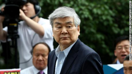 Korean Air chairman and CEO Cho Yang-Ho arrives at the Seoul southern district court on July 5, 2018 in Seoul, South Korea.