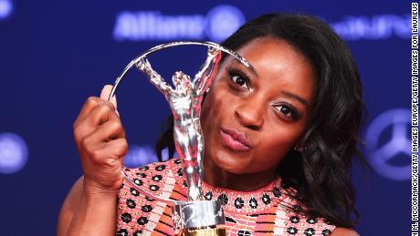 Biles was named Laureus World Sportswoman of the Year.