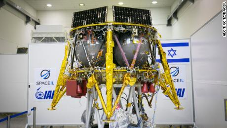 SpaceIL's Beresheet spacecraft is five feet tall and weighs about 1,300 pounds fully fueled