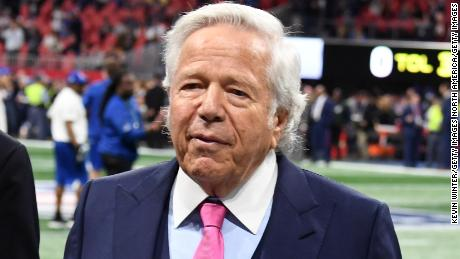 ATLANTA, GA - FEBRUARY 03:  CEO of the New England Patriots Robert Kraft attends the Super Bowl LIII Pregame at Mercedes-Benz Stadium on February 3, 2019 in Atlanta, Georgia.  (Photo by Kevin Winter/Getty Images)