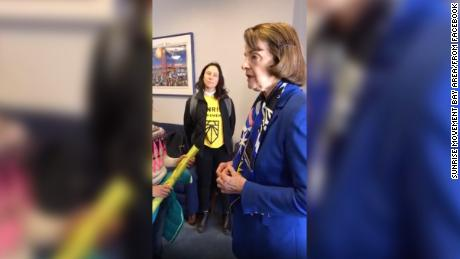 Senator Dianne Feinstein Verbally Spars With Student Activists on Green New Deal