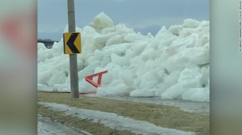 High Winds Cause 'Ice Tsunami' To Spill Onto Upstate Highway