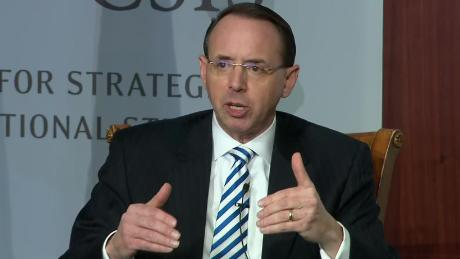 Rosenstein staying on at Justice Department  'a little longer' than anticipated