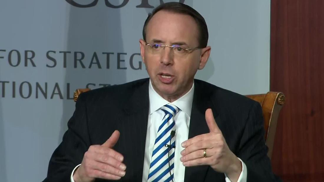 Rosenstein staying 'a little longer' than anticipated - CNNPolitics