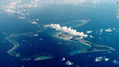 Diego Garcia, the largest island in the Chagos archipelago and site of a major United States military base,  located in the middle of the Indian Ocean, was  leased from Britain in 1966.