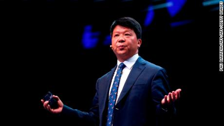 Huawei chairperson Guo Ping delivers a keynote speech at the Mobile World Congress (MWC) in Barcelona on February 26, 2019. - Phone makers will focus on foldable screens and the introduction of blazing fast 5G wireless networks at the world's biggest mobile fair as they try to reverse a decline in sales of smartphones. (Photo by Pau Barrena / AFP)        (Photo credit should read PAU BARRENA/AFP/Getty Images)