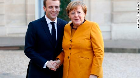 French President Emmanuel Macron and German Chancellor Angela Merkel must decide on any request on a Brexit extension.