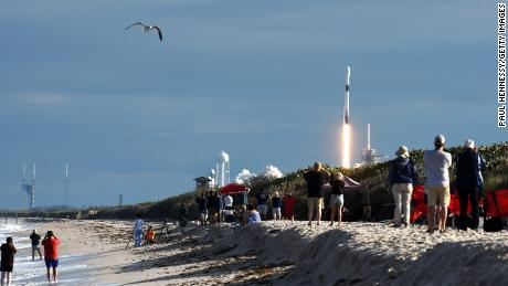 SpaceX moves routinely to local beaches and places of entertainment.
