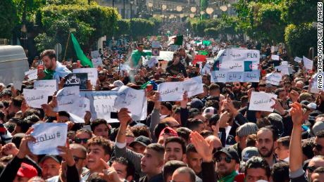 Injured in Algeria Protests