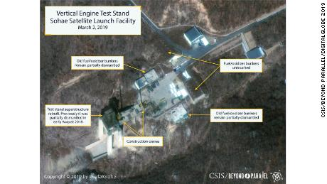 Satellite images show activity at North Korean missile site, analysts say