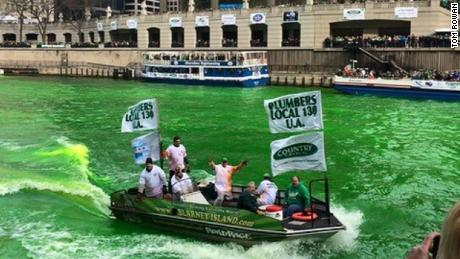 On the morning of St. Patrick's parade, the crew will be on the river at 9 am.