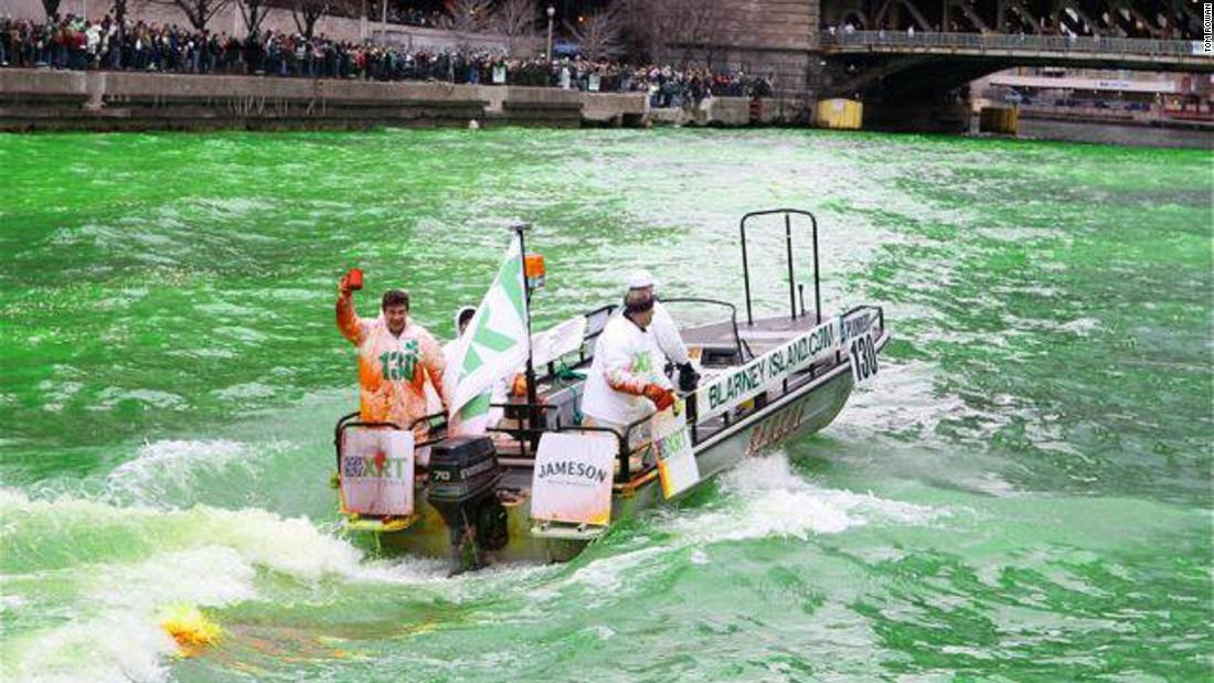 Meet the man who dyes the Chicago River green for St. Patrick's Day - CNN