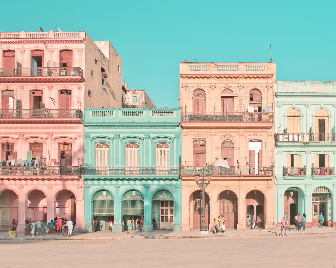Photographs reimagine Havana as a pastel-colored dreamland
