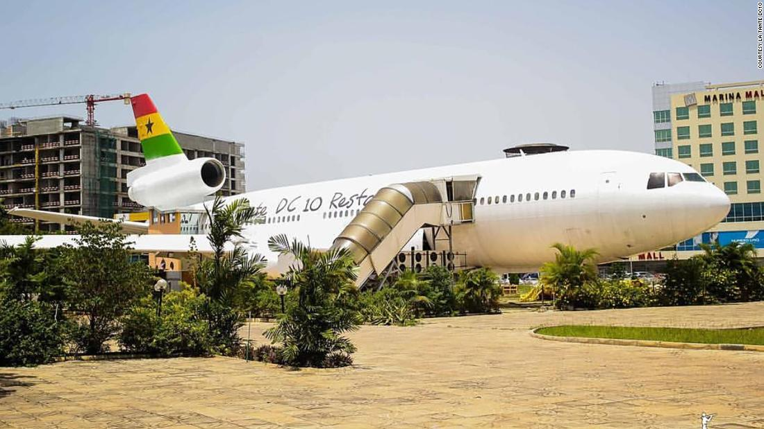See planes converted into restaurants