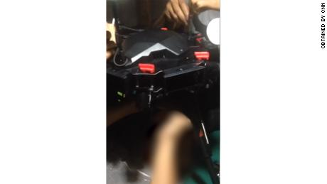 Still from video provided by the attacker, showing one of his group's drones.