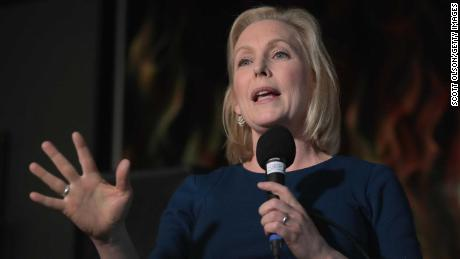 CEDAR RAPIDS, IOWA - FEBRUARY 18: U.S. Senator Kirsten Gillibrand speaks to guests during a campaign stop at the Chrome Horse Saloon on February 18, 2019 in Cedar Rapids, Iowa. Gillibrand, who is seeking the 2020 Democratic nomination for president, made campaign stops in Cedar Rapids and Iowa City today.  (Photo by Scott Olson/Getty Images)
