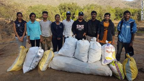 A group in Junagadh, India, posted on Instagram about collecting plastic thrown out by locals.