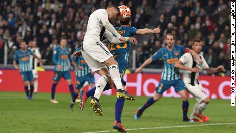 Ronaldo scored three times as Juventus qualified for the Champions League quarter-finals.